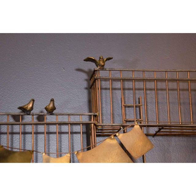 1970s AMAZING MONUMENTAL CURTIS JERE NEW YORK CITY FIRE ESCAPE SCENE WALL SCULPTURE For Sale - Image 5 of 6