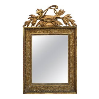 French Neoclassical Giltwood Mirror For Sale