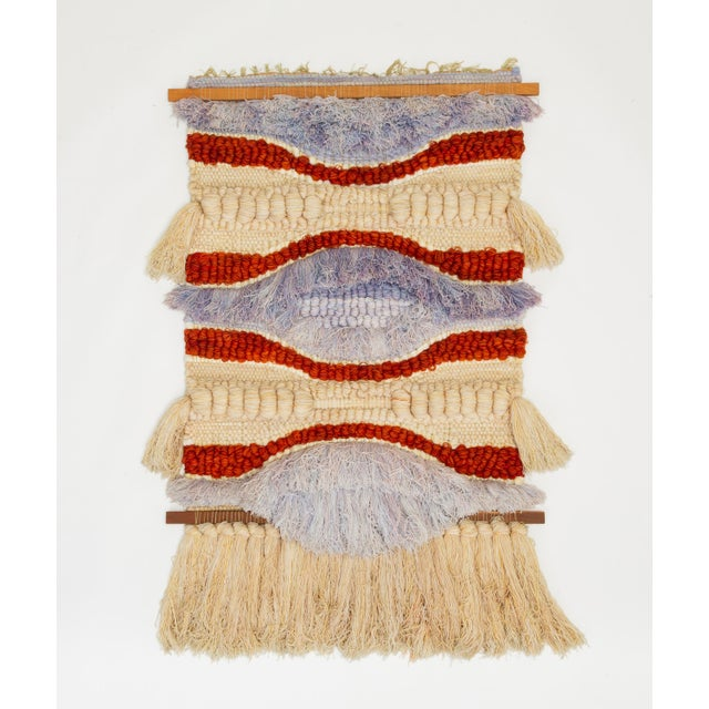 Red California Fiber Arts Wall Hanging by Margo O'Connor For Sale - Image 8 of 8