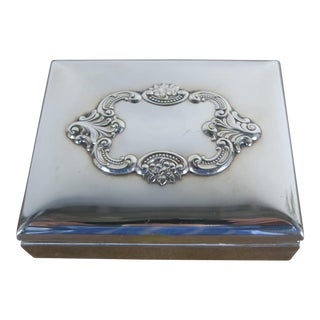 Baroque by Wallace Silver Plated Trinket Box For Sale