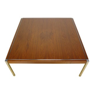 1960s Mid-Century Modern Richard Schultz for Knoll Walnut Coffee Table For Sale