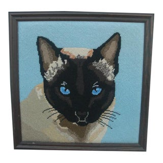 Siamese Cat Needlepoint