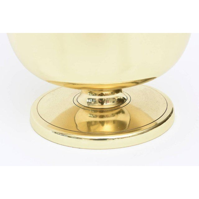 Gold Vintage Midcentury Tommi Parzinger Brass Ice Bucket Champagne Bucket Barware For Sale - Image 8 of 11