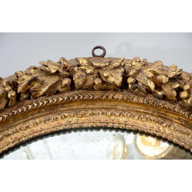 19th Century Carved Wood and Gesso Gilt Mirror For Sale - Image 4 of 7