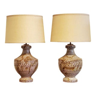 1960s Alvino Bagni Table Lamps - a Pair For Sale