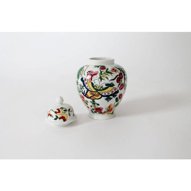 Mid 20th Century Colorful Vintage Lidded Ginger Jar For Sale - Image 5 of 10