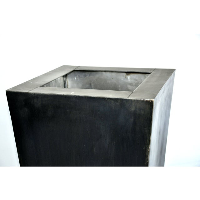 Giant Pyramid Steel Box Planter For Sale - Image 4 of 4