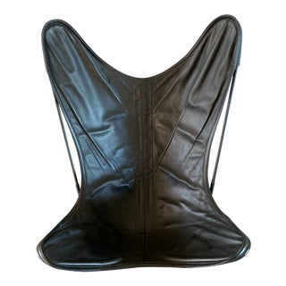 Mid Century Leather Butterfly Chair For Sale