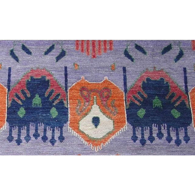 """Textile Hand Knotted Ikat Rug by Aara Rugs Inc. 12'5"""" X 9'5"""" For Sale - Image 7 of 7"""