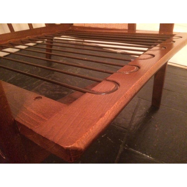 Mid-Century Low-Slung Wood Arm Chair For Sale - Image 10 of 11