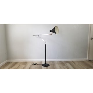 Angelo Lelli Style Italian Chrome Adjustable Floor Lamp. Preview