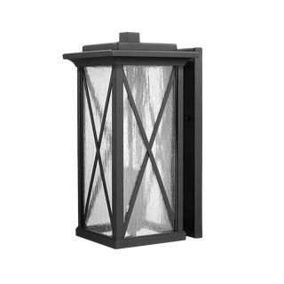 Morris 2 Light Medium Outdoor Aluminum Wall Lantern, Black For Sale