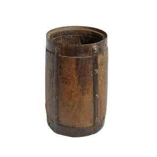Old India Wood Pot For Sale