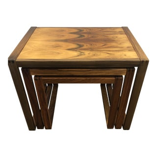 Mid Century Modern Rosewood Nesting Tables - 3 Pieces For Sale