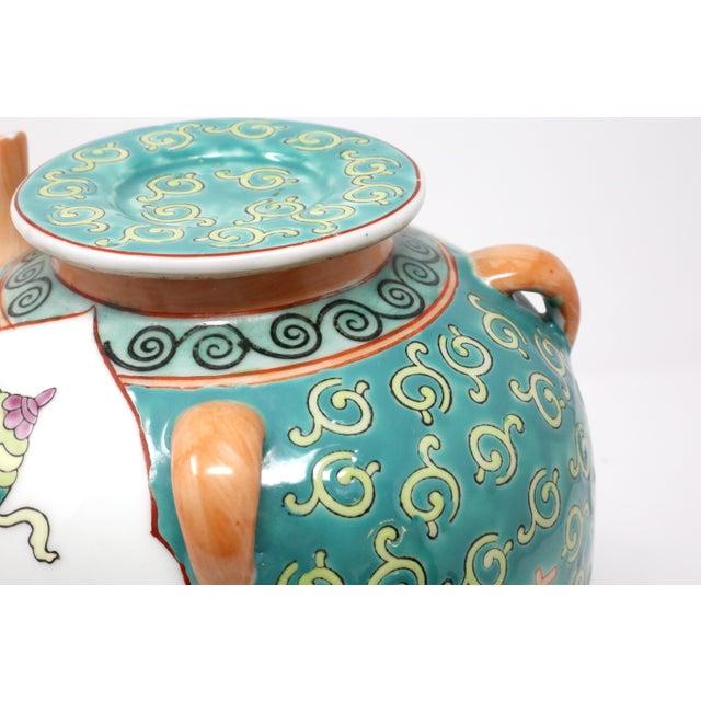 Orange Vintage Chinese Decorative Lidded Water Jug For Sale - Image 8 of 13