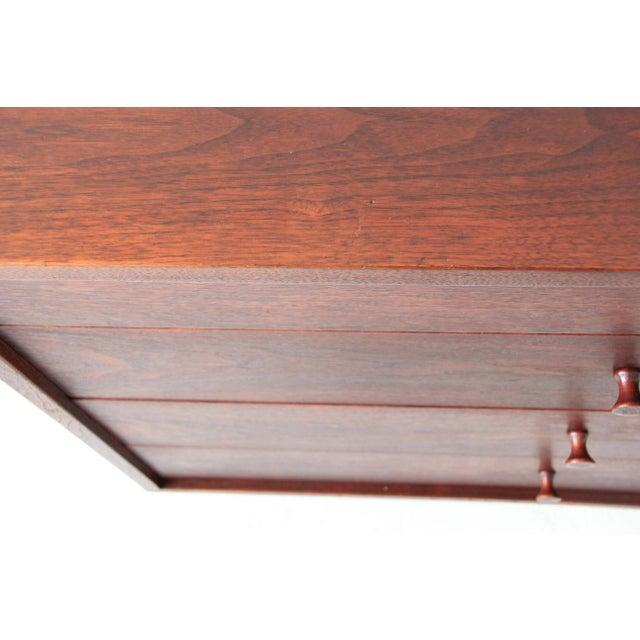 Vintage Mid-Century Modern Walnut 4-Drawer Dresser - Image 7 of 7