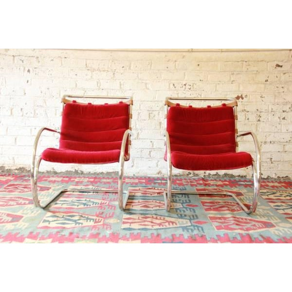 Mies Van der Rohe MR-20 Lounge Chairs - A Pair - Image 2 of 9