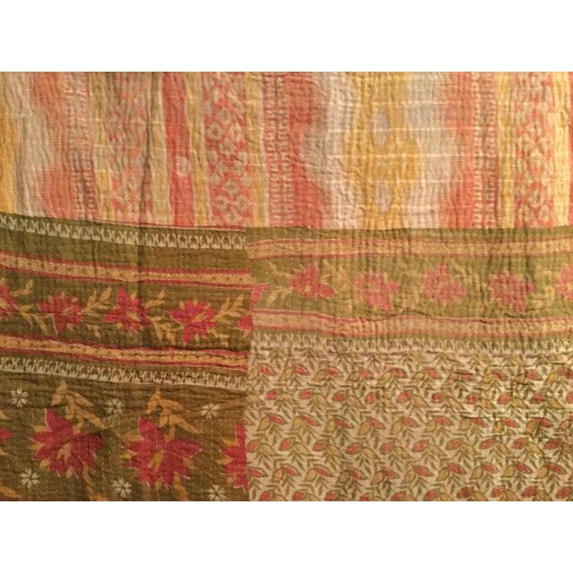 Vintage Kantha Quilt - Image 4 of 6