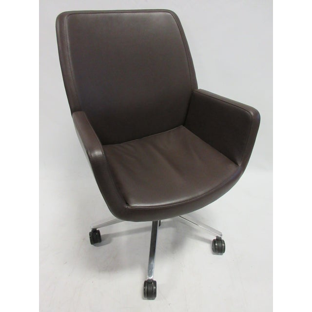 Brown Coalesse Bindu Mid-Back Executive Chair For Sale - Image 8 of 8