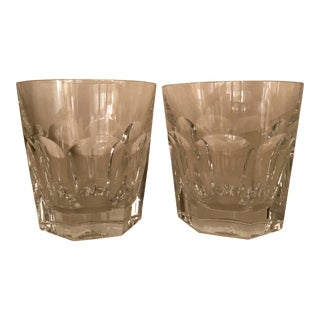 Pair of Baccarat Large Harcourt Tumbler Glasses For Sale
