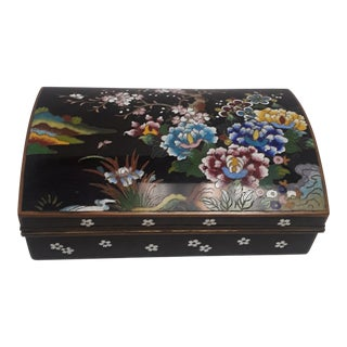 Kyoto Japanese Cloisonne Box For Sale