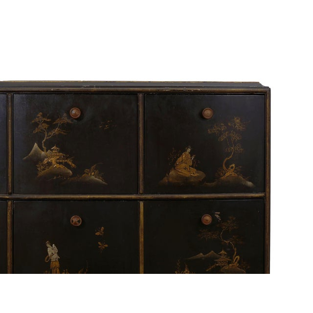 Art Deco Chinoiserie Mirrored Top Chest of Drawers Dresser Circa 1940s For Sale - Image 9 of 13