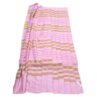 1970s African Pink Aso Oke African Textile For Sale