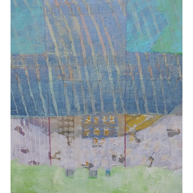 Abstract Christine Averill - Green, Serene and Cool, 2018 For Sale - Image 3 of 5