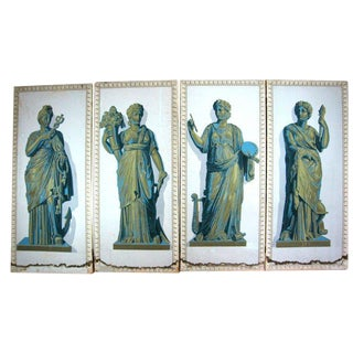 Greek Goddesses Wallpaper Panels - Set of 4 For Sale