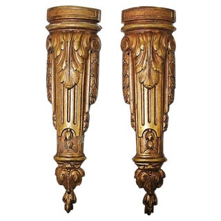 Gold-Plate French Mounts - A Pair For Sale