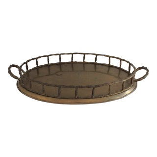 Faux Bamboo Decorative Tray For Sale
