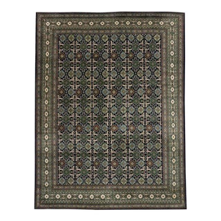 Vintage Persian Tabriz Rug with Mid-Century Modern Style