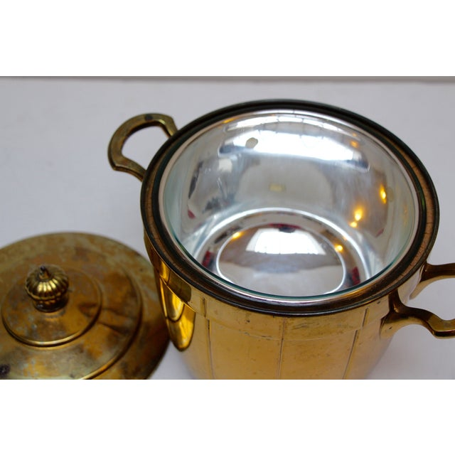 Brass Ice Bucket with Glass Liner - Image 5 of 6