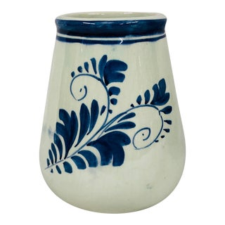 Vintage Wide Mouth Delft Jar/Vase For Sale