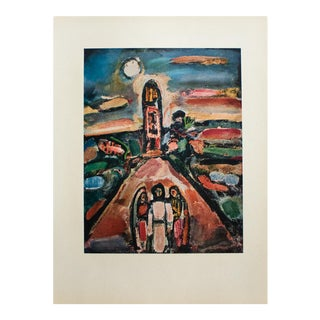 1950s Georges Rouault, Middle Eastern Landscape Original Period Lithograph For Sale
