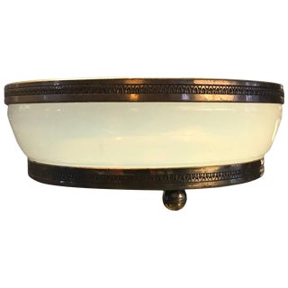 19th Century French Opaline Glass Bowl Vide Poche Catchall For Sale