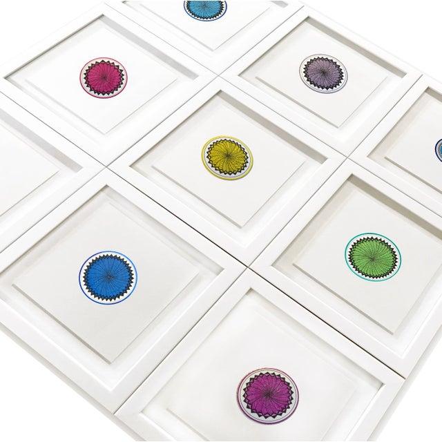 Natasha Mistry Minimalist Geometric Ink Drawings - Set of 9 For Sale - Image 4 of 11