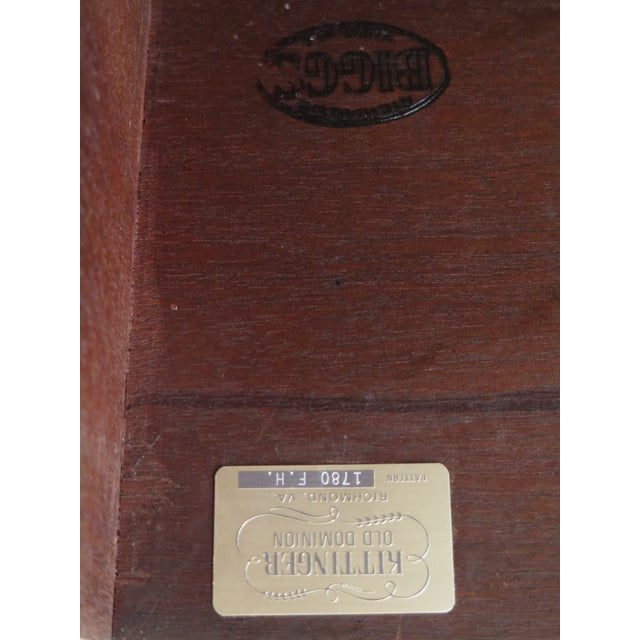 Kittinger Old Dominion Collection Mahogany Highboy For Sale - Image 11 of 12