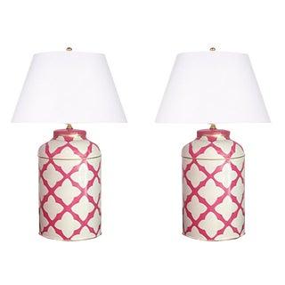 Dana Gibson Pink Moda Lamps - a Pair