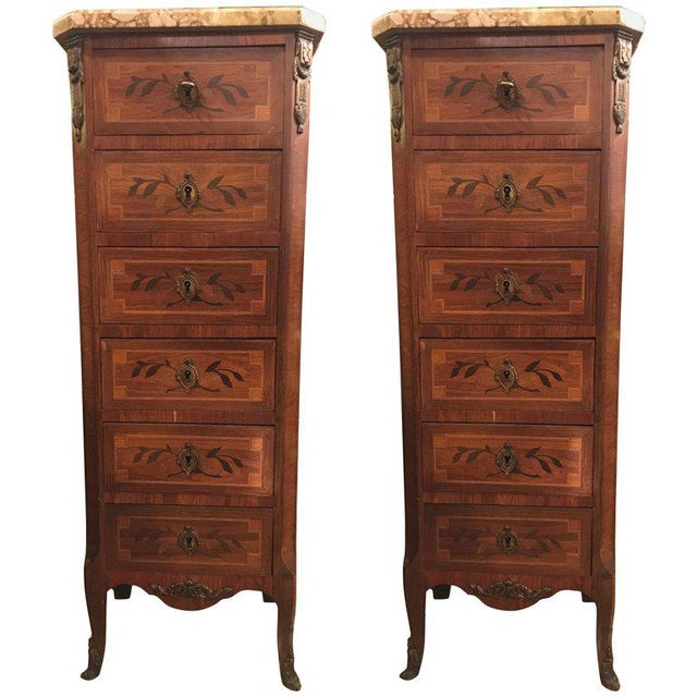19th Century Louis XV Style Lingerie Chests - A Pair For Sale - Image 11 of 12