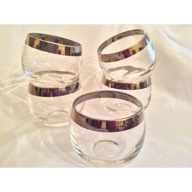 Mid-Century Dorothy Thorpe Inspired Roly Poly Whiskey Glasses - Set of 5 For Sale - Image 11 of 13