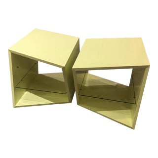 Modern Two-Piece Yellow Coffee Tables - A Pair For Sale
