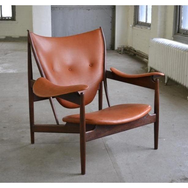 Danish Modern FINN JUHL Chieftan Chair 1949 For Sale - Image 3 of 3