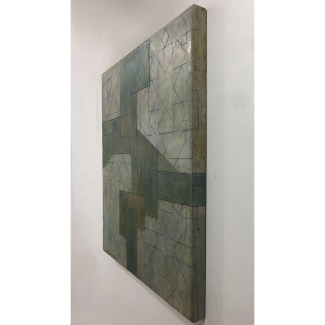 Ancient/Modern Series Abstract Geometric Oil Painting For Sale In New York - Image 6 of 6