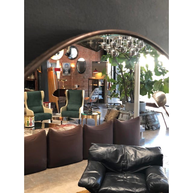 Oversize Oval Wall Mirrors, Italy, Late 1960s - a Pair For Sale In Los Angeles - Image 6 of 10