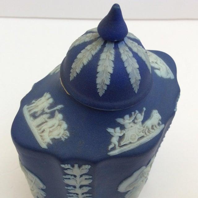 Blue & White Wedgwood Tea Caddy - Image 6 of 6