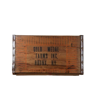 Vintage Wooden Farm Crate For Sale
