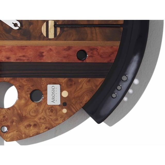 Brown ArosioMilano Samada Brown Wall Clock For Sale - Image 8 of 9