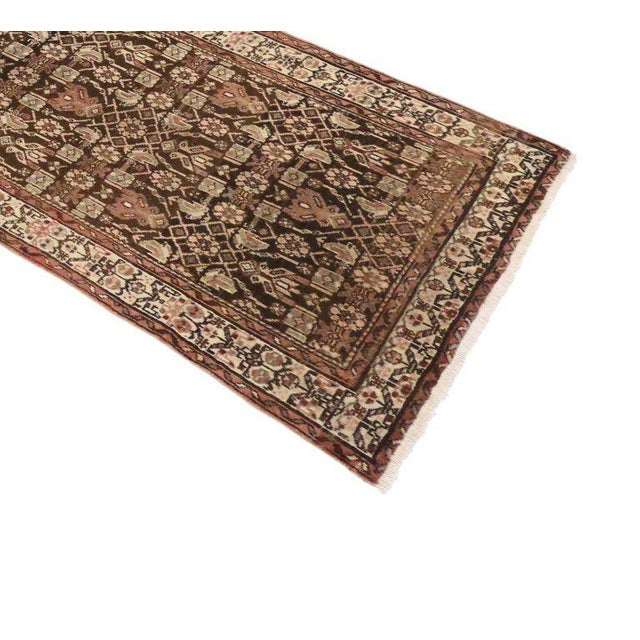 Antique Persian Malayer Carpet Runner with Traditional Modern Style For Sale - Image 5 of 9