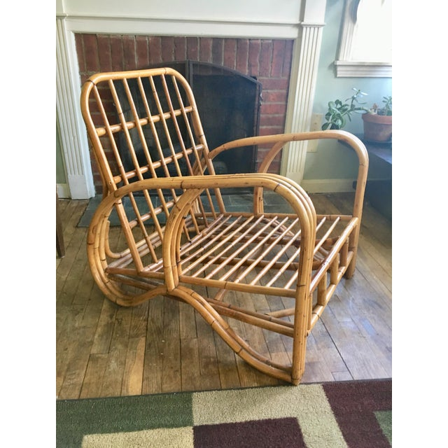 Mid-Century Modern Bamboo Club Chair - Image 8 of 10